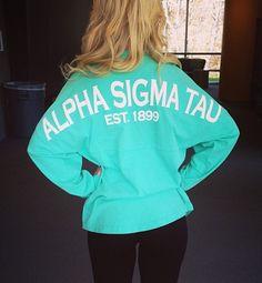 Alpha Sigma Tau jersey crush♥ #AST #AlphaSigmaTau