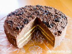 Sjokoladekake med appelsinkrem | Det søte liv Brownie Cake, Brownies, Truffles, Chocolate Cake, Tiramisu, Cravings, Baking, Ethnic Recipes, Cakes