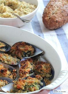 Provencal mussels, appetizer recipe for when we have almost nothing in the fridge - Comida Faciles Y Rapida No Cook Appetizers, Quick And Easy Appetizers, Easy Appetizer Recipes, Fish Recipes, Salad Recipes, Appetizer Salads, Kitchen Dishes, Fish And Seafood, Salads