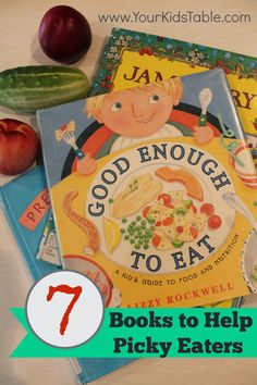 Your Kid's Table: Children's Books to Help with Picky Eating. Pinned by SOS Inc. Resources. Follow all our boards at pinterest.com/sostherapy/ for therapy resources.
