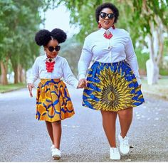 Mother and Daughter Ankara Styles - Fashion Ruk African Dresses For Kids, African Wear Dresses, African Attire, Kids Fashion, Fashion Show, Woman Fashion, Modest Casual Outfits, Ankara Styles For Women, Mother Daughter Fashion
