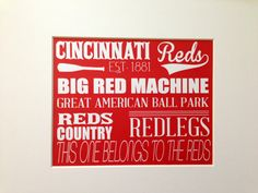 Cincinnati Reds Wall Art,