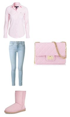 """""""Visiting a Friend"""" by lxvenaee ❤ liked on Polyvore featuring moda, Design Inverso, UGG Australia, Frame Denim y GANT"""