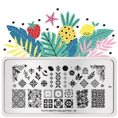 Tutti Frutti 06 | MoYou London Stamping Nail Polish, Nail Stamping Plates, Funky Fruit, Cherry On The Cake, Fruits Images, Stainless Steel Nails, Image Plate, Marca Personal, Tutti Frutti