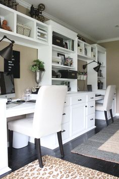 Home office- craft room- reveal- home office space- craft supply storage ideas- One Room Challenge- renovation- home tour- office makeover- One Room Challenge Reveal Week farmhouse style office- neutral decor- built in shelving- styling shelves Office Shelf, Home Office Storage, Home Office Organization, Home Office Space, Home Office Design, Home Office Decor, Small Office, Organization Ideas, Office Shelving