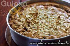Para o #lanche faça esta deliciosa e rápida Torta de Banana com Aveia. Ainda pode aproveitar as bananas maduras!  #Receita aqui => http://www.gulosoesaudavel.com.br/2013/07/05/torta-banana-aveia/