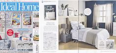Alternative Flooring's Sisal Bubbleweave Silver flooring as seen in the Ideal Home magazine - issue August 2014