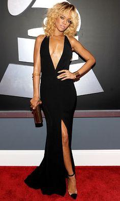 Rihanna 2012 Grammys #celebrities #celebrityfashion #redcarpet