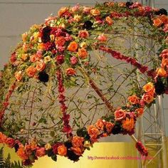 umbrella with such beautiful design and flowers