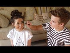 My Brother Does My Make-up. He actually wasn't doing a horrible job until he got to the eyebrows lol