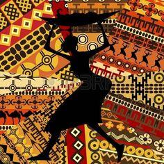 Femme africaine sur fond de textures ethniques photo