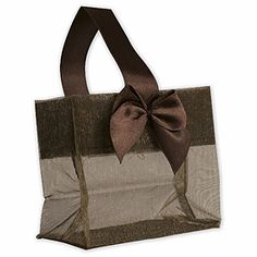 Satin Bow Mini Totes: Cute and classy event bags are great as small gift bags or favor bags. Browse all satin bow mini totes.