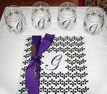 glasses & cheese board... personalized with vinyl