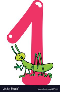Number one Royalty Free Vector Image - VectorStock , Number Words Worksheets, Kids Math Worksheets, Kindergarten Math, Teaching Math, Number Drawing, Cartoon Background, Math For Kids, Teacher Hacks, Teaching Materials