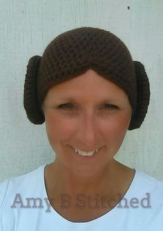 A Stitch At A Time for Amy B Stitched: Princess Leia FREE Crochet Beanie Pattern