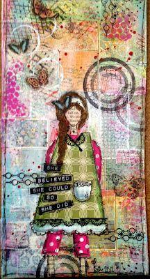"another ""She"" i made after the Christy Tomlinson online workshop... :)"