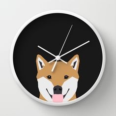 Indiana - Shiba Inu gift design for dog lovers and dog people Wall Clock by PetFriendly - $30.00