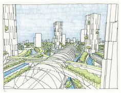 Arquitectura Urbana: Es el diseño de interiores y exteriores con equipamiento urbano, donde puede haber una relación.