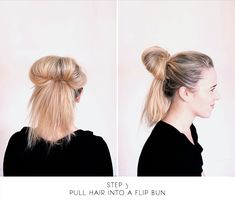 sitting in our tree: DIY - messy bun for long hair Long Hair Dos, Bun Hairstyles For Long Hair, Very Long Hair, Diy Hairstyles, Long Hair Styles, Beauty Makeup Tips, Beauty Hacks, Hair Beauty, Messy Top Buns