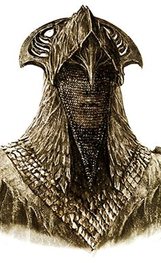 """Beautiful concept art for an Elven Mirkwood guard's helmet from """"The Hobbit: The Desolation of Smaug"""" (2013)."""