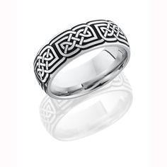 Celtic Knot Cobalt Chrome Wedding Ring
