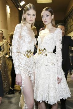 Zuhair Murad at Couture Spring 2014 (Backstage)