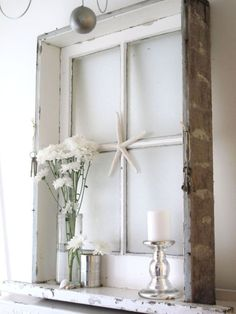 Four Ways to Decorate With Old Windows | Pray, Live, Create