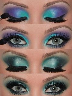glancing eye makeup