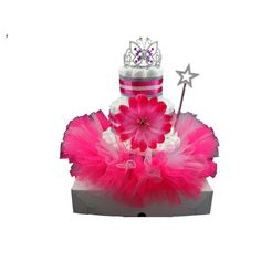 Prinses taart donker roze