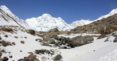 Snowing in Annapurna base camp with Nepal Himalayas Trekking team http://www.nepalhimalayastrekking.com/annapurna-base-camp-trek.html