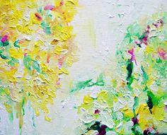 Honeysuckle Original Painting 10x8 Canvas by ArtbyAutumnRose, $89.00