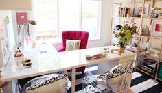 """The """"L Shape"""" Desk Hack from Ikea:"""
