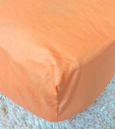 Peach Cotton Crib Sheet Peach Crib Sheet by RitzyBabyOriginal