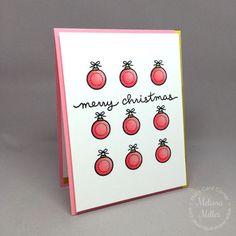 Mel's Card Corner | Pink Christmas