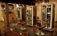 salon styling area |