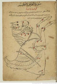 Title: al-Sufi. Kitab al-Kawakib suwar al-Tabita Type : manuscript Language : Persian Rights : public domain Login: ark: / 12148 / btv1b8432266z Source : Bibliothèque nationale de France, Department of Manuscripts, Persian Supplement 1551