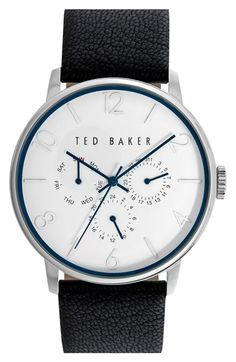 89ab4201e Free shipping and returns on Ted Baker London Multifunction Leather Strap  Watch