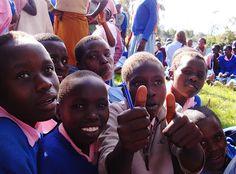 Children at a school in Kenya, Africa. (Taken by Sarah Croaker)