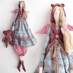 Купить Интерьерная кукла Тильда Элен - голубой, тильда, кукла, кукла Тильда, тильда кукла ♡