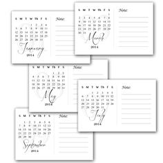This has been way overdue but it's better late than never. So, here's the 4x6 printable calendar for free download. Please do not claim this as your own, other than that you can do whatever you lik...