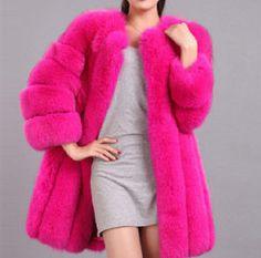 Queen Devin Faux Fur Coat - (more colors) (XS-3XL) — Pink Plastic Winter Coats Women, Coats For Women, Jackets For Women, Long Overcoat, Blue Coats, Women's Coats, Fox Fur Coat, Warm Coat, Fashion Women