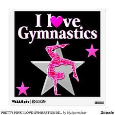 PRETTY PINK I LOVE GYMNASTICS DESIGN Calling all Gymnasts! Enjoy the best selection of Gymnastics Tees & Gifts from Zazzle.  15% Off Sitewide Use Code: SPRINGLOVE17      http://www.zazzle.com/mysportsstar/gifts?cg=196751399353624165&rf=238246180177746410   #Gymnastics #Gymnast #Gymnastgift #Gymnastgirl