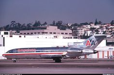Boeing 727-23, American Airlines, N2913, cn 20045/596, first flight 25.6.1968, American delivered 9.7.1968. Foto: San Diego, United States, January 1979.