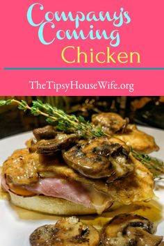 An easy dinner when you're entertaining. Simple to make and so delicious. Be prepared to share this recipe. Top Recipes, Great Recipes, Favorite Recipes, Easy Easter Recipes, Pan Fried Chicken, Chicken Cordon Bleu, Chicken Cutlets, Recipe Recipe, Stick Of Butter