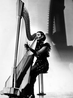 This Art Deco Harp is the 'Salzedo model' of the Concert harp and still in production.