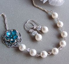 Brides Bridesmaids Necklace  Customizable by lecollezione on Etsy, $42.75