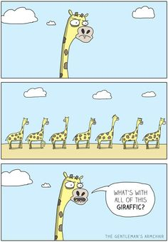 Funny pictures about Giraffe traffic. Oh, and cool pics about Giraffe traffic. Also, Giraffe traffic. Funny Cute, Hilarious, Funny Farm, Funny Giraffe, Giraffe Humor, Fraggle Rock, Corny Jokes, Bad Puns, Road Rage