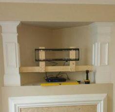 11 best tv mount over fireplace images living room tv tv unit rh pinterest com