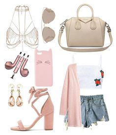"""""""Pink Princess"""" by jxxmll on Polyvore featuring Givenchy, Charlotte Russe, PhunkeeTree, River Island, Valentin Magro, Raye and Christian Dior"""