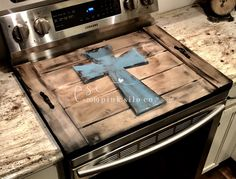 Let's eat y'all stove cover / Farmhouse kitchen noodle board / stove cover / farmhouse stove cover, farmhouse sign / stove board Farmhouse Kitchen Decor, Farmhouse Style Decorating, Farmhouse Signs, Rustic Farmhouse, Farmhouse Ideas, Stove Top Cover, Stove Covers, Sink Cover, Diy Wood Projects